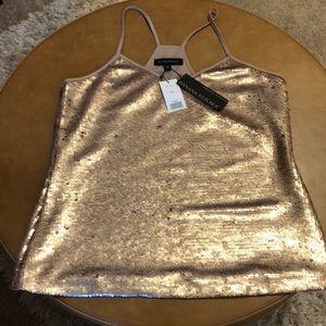 NWT Banana Republic rose gold sequins top